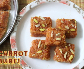 Carrot burfi or gajar ki barfi recipe – How to make gajar ki burfi – burfi recipes
