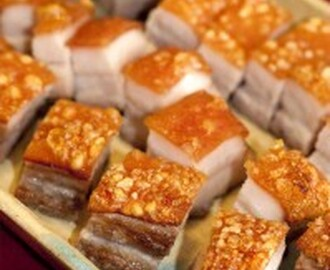 Easy Crispy Roasted Pork Belly with Honey Chilli Dipping Sauce