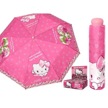 Hello kitty paraply - hopfällbart