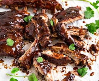 Slow Cooker Sweet and Sour Sticky Ribs