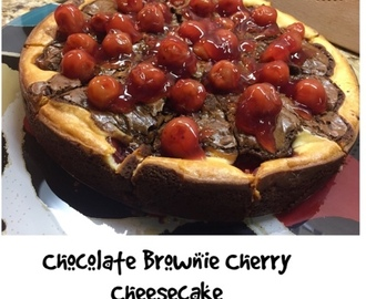 Chocolate Brownie cherry cheesecake