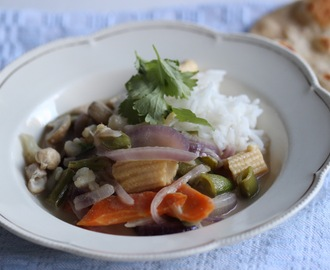 Thai grønn curry – vegan