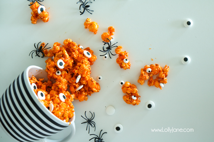 Candied Eyeball Halloween popcorn