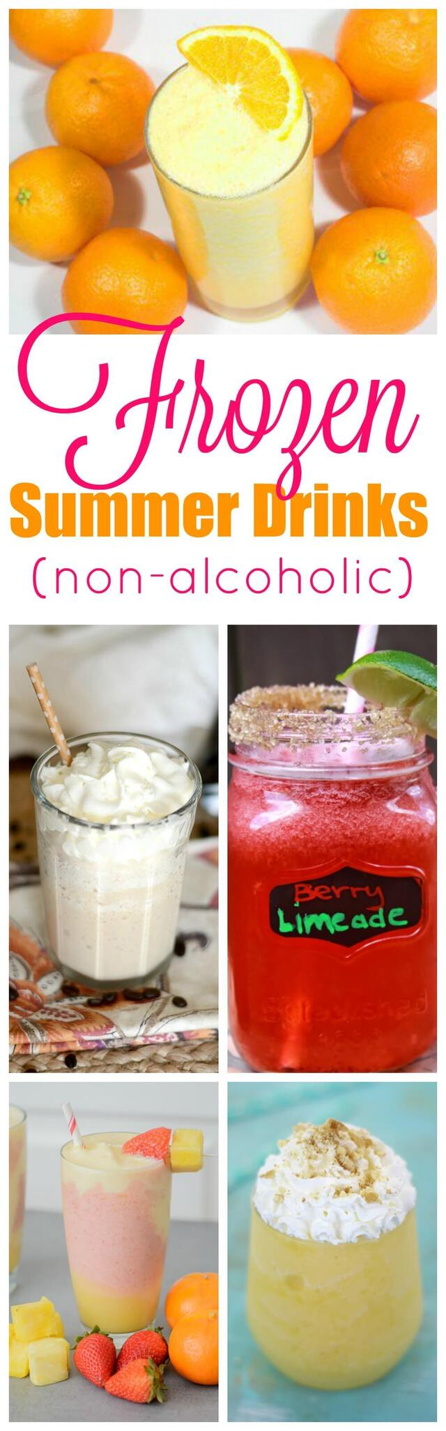 Frozen Summer Drinks that are Non-Alcoholic