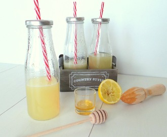 Citronnade tiède au miel et gingembre (Warm lemonade with honey and ginger)