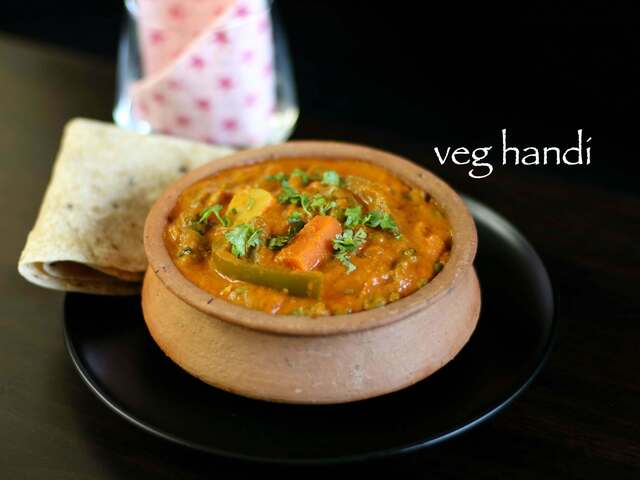 veg handi recipe | veg diwani handi recipe | mixed vegetable handi