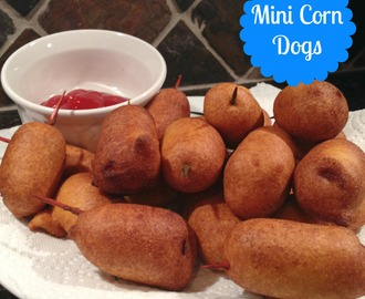 Mini Corn Dogs {and My Burger on Rachael Ray!}
