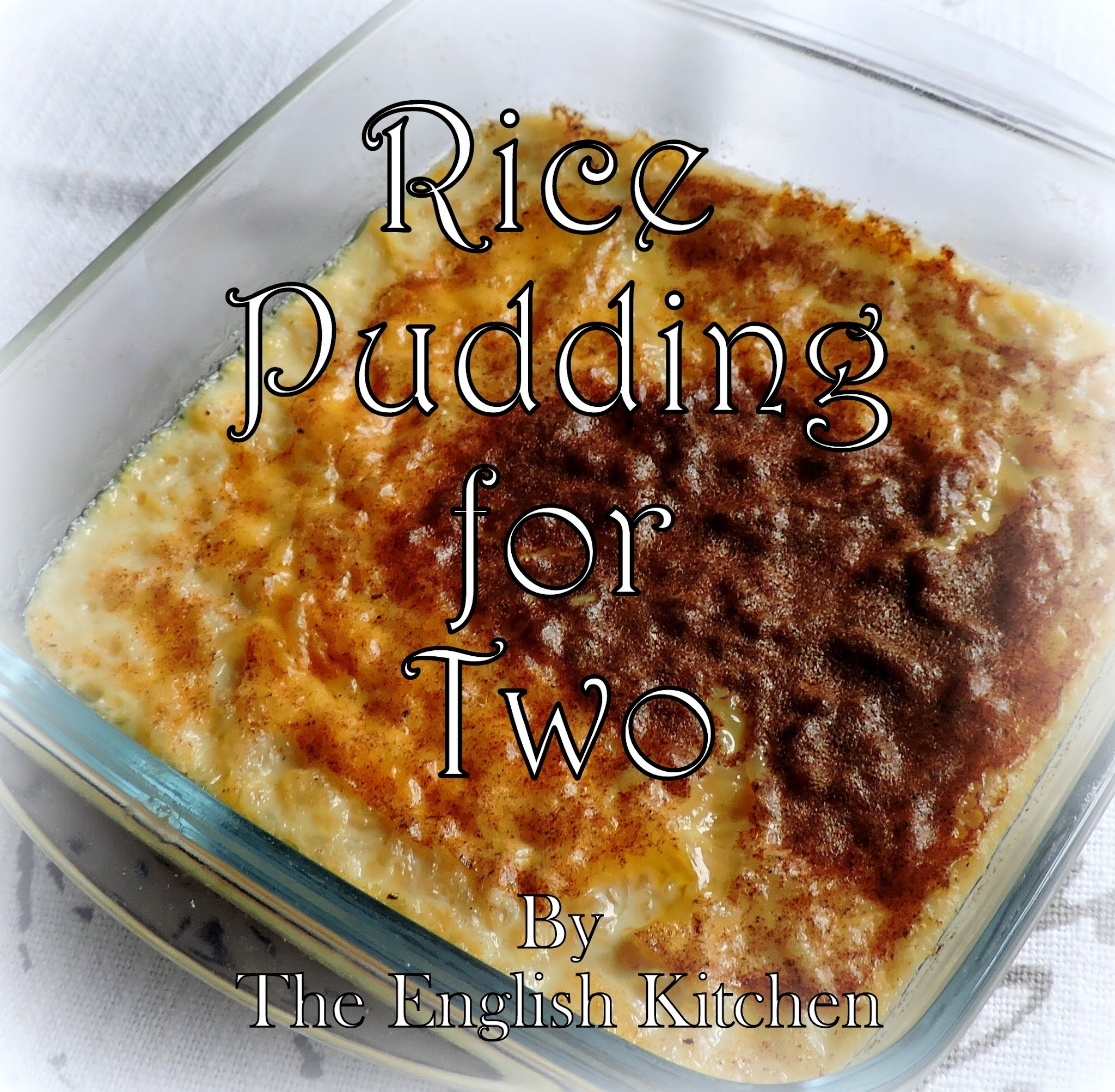 Rice Pudding For Two