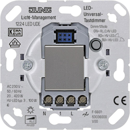 Dimmer Insats Jung LS 900, AS 500, CD 500, LS design, LS plus, FD design, A 500, A plus, A creation, CD plus, SL 500 1224LEDUDE