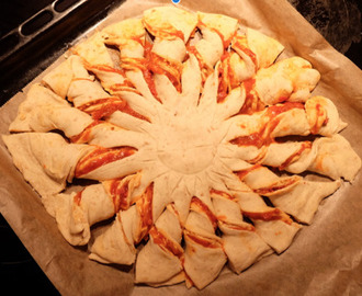 Pizza Bread Flower