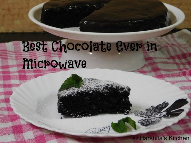 Best Chocolate Cake Ever in Microwave | Eggless - First Youtube Video Recipe