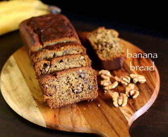 banana bread recipe | eggless banana bread recipe | vegan banana bread