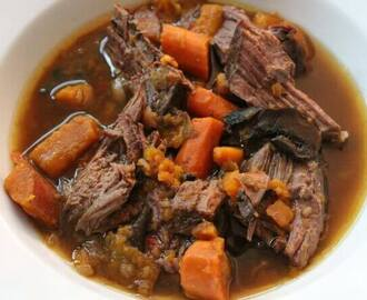 Pot Roast with Sweet Potato, Mushroom, and Carrot