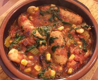 BRILLIANT BUTTER BEAN AND VEGGIE SAUSAGE STEW