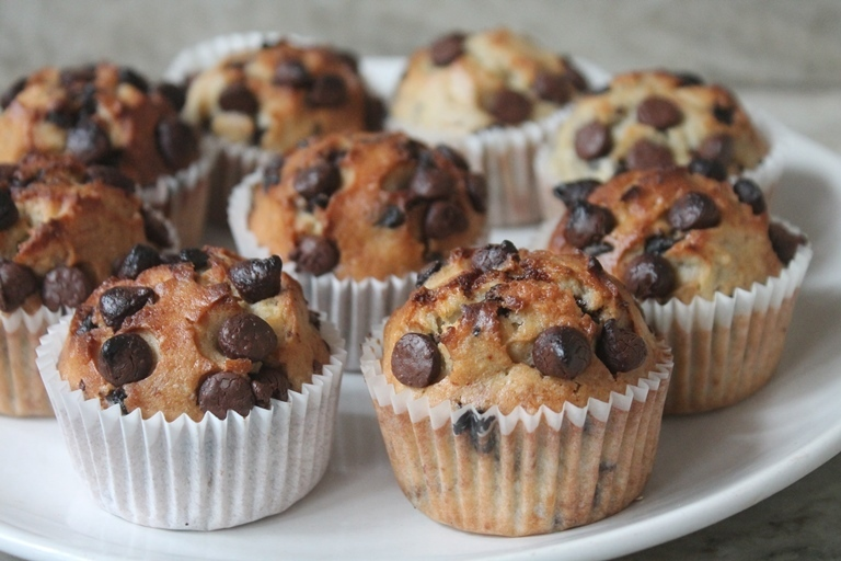 Banana - Chocolate Chip Muffins Recipe