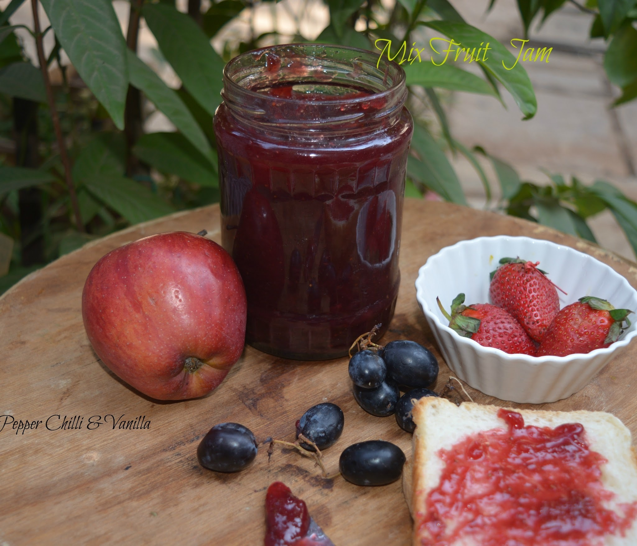 Mixed Fruit Jam/Easy Homemade Mixed Fruit Jam