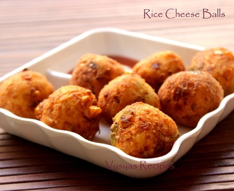 Rice Cheese   Balls - Cheese Balls from left Over Rice