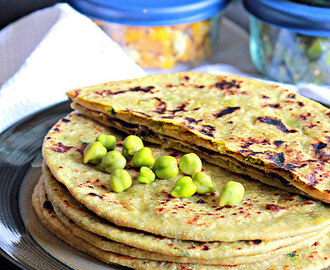 Choliya Paratha, Fresh Green Chickpeas Paratha