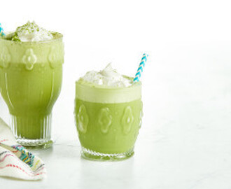 Iced Vanilla Bean Matcha Latte…with a twist!