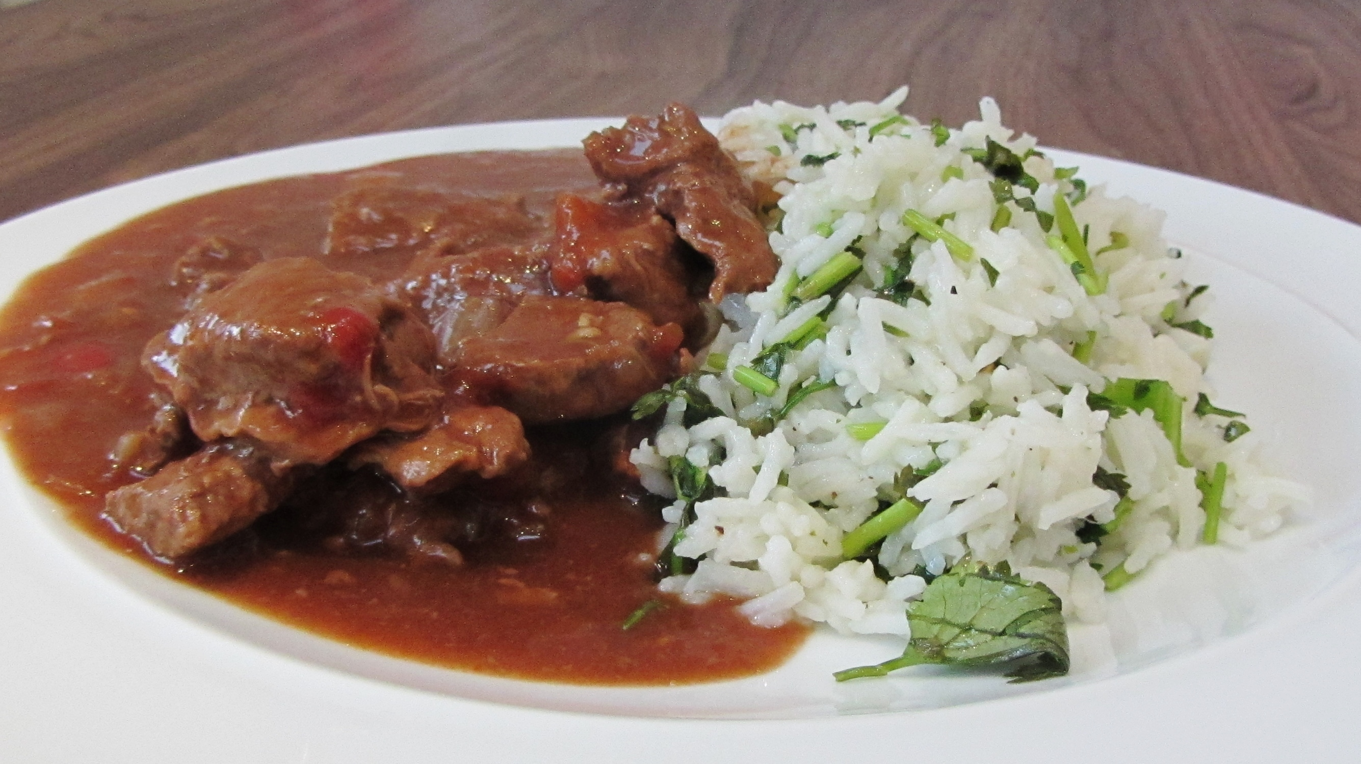 Slow Cooked Mexican Beef Stew with Lime and Coriander Rice