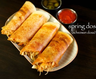 spring dosa recipe | schezwan dosa recipe | chinese dosa recipe