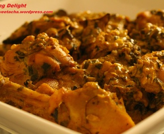 Methi Malai Murgh (Methi Chicken with Cream)