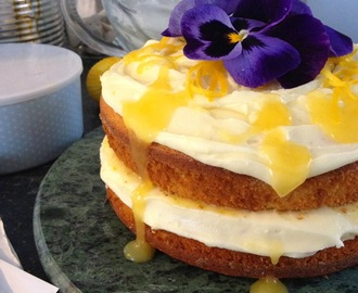 Lemon Yoghurt Cake with Lemon Curd and Cream Cheese Icing