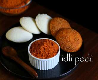 idli podi recipe | milagai podi recipe | idli milagai podi | gunpowder recipe