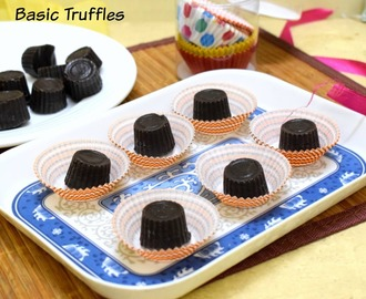 Basic Truffle Recipe | How to make Dark Chocolate Truffle