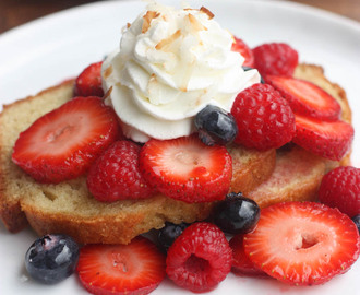 Berry Shortcake with Coconut Whipped Cream