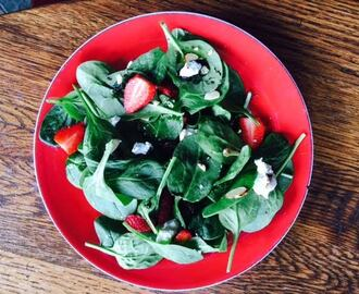 Strawberries and Goat Cheese Salad