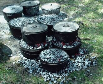 Wood Coals And Dutch Ovens