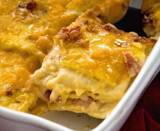 Ham & Cheese Overnight Breakfast Lasagna Recipe