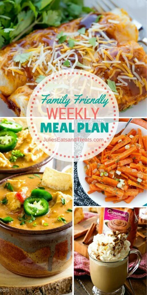 Family Friendly Weekly Meal Plan 10/20/16