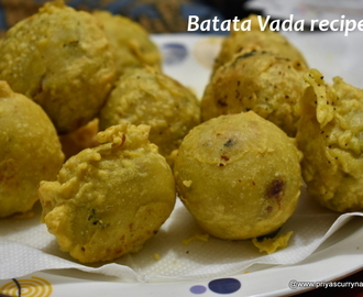Batata vada recipe, how to make gujarati style batata vada
