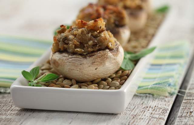 Lentil-Stuffed Mushrooms