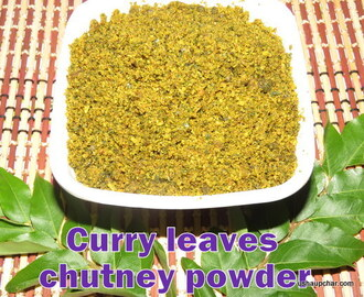 Curry Leaves Chutney Powder I Karibevu Chutney Pudi