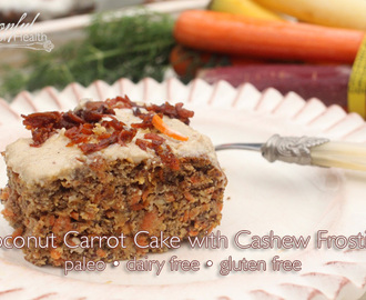 Coconut Carrot Cake with Cashew Frosting {paleo, refined sugar, dairy & gluten free}