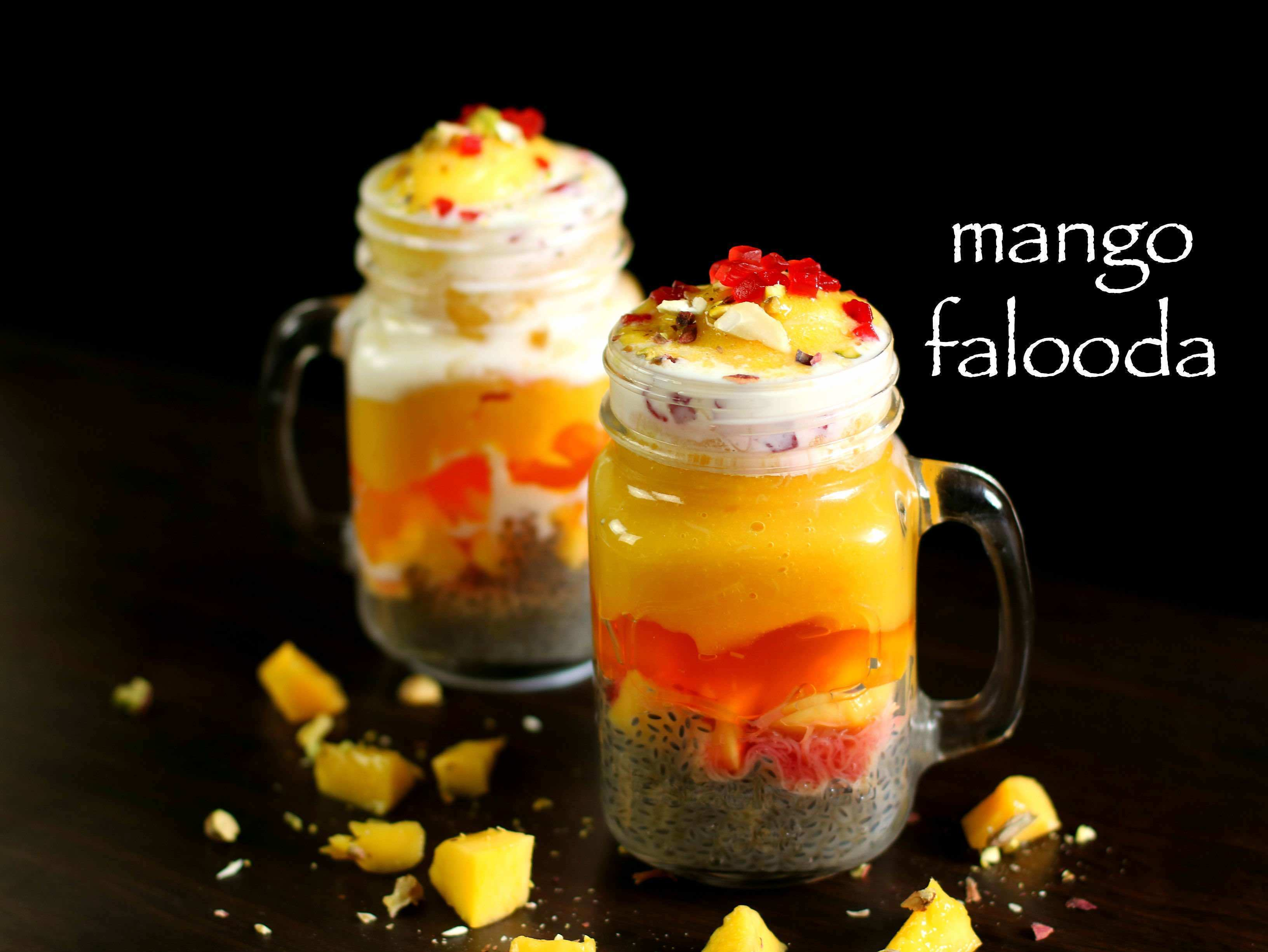 mango falooda recipe | mango faluda ice cream recipe
