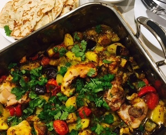 Indian Chicken and Potato Bake