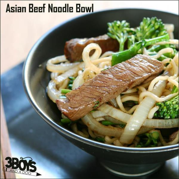 Asian Beef Noodle Bowl Recipe