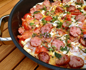 Persian-Style Breakfast Omelette with Polish Farmhouse Sausages & Herbs