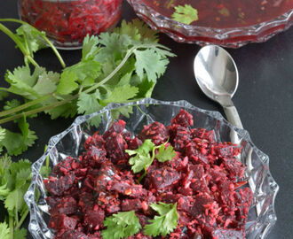 Beetroot Stir Fry Or Beetroot Poriyal