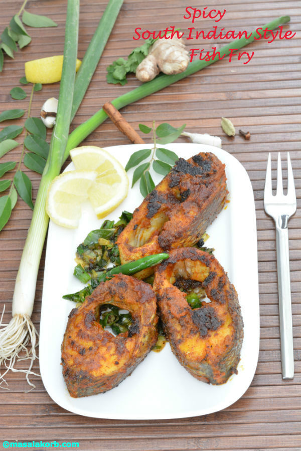 Spicy South Indian Style Fish Fry