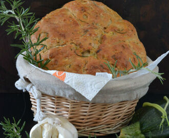Rustic Rosemary Garlic Zucchini Bread
