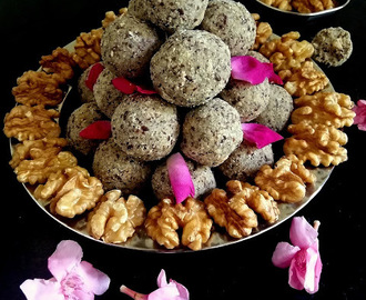 Flaxseed Millet Walnut Ladoo - A globe of goodness! Winter Special!