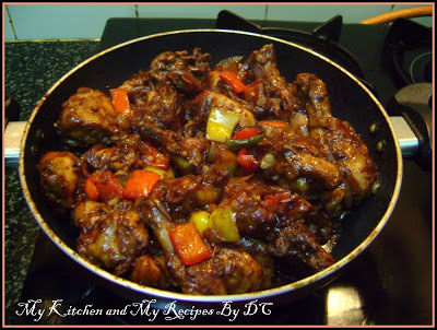 Hot and Tangy dry chicken)Chinese)