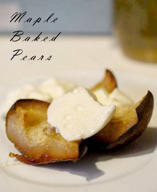Maple Baked/Poached Pears (Paleo)