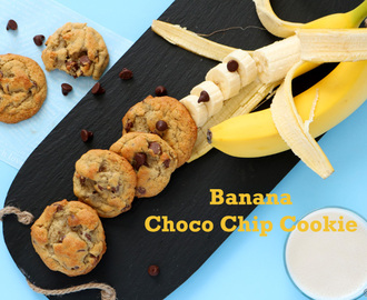 Eggless Banana Choco Chip Cookie