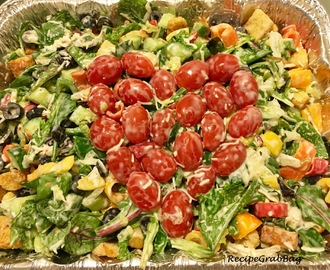 Healthy Vegetarian Italian Salad - Valentine's Day special!